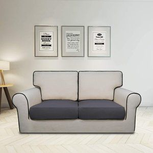 Stretchy Loveseat Cushion Cover - Two Pieces